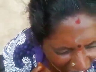 Tamil Mature older Mother fellating her sonnies acquaintance - Jizm in jaws