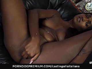 Casting ALLA ITALIANA - Indian stunner nasty interview