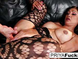 Priya makes her cumback with her first onscreen cock in six