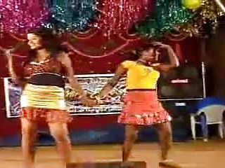 South indian nymphs doing a vulgar dance on stage
