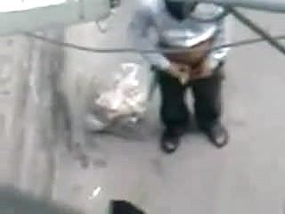 Desi paki Bhabhi road side pummeling in Public youthfull man arse