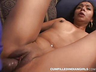 Hardcore Indian Sabrina pleasuring 2 pricks