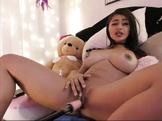 Indian woman with pounding machine
