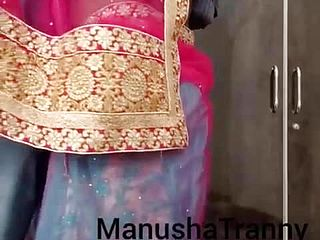Remove my saree - Desi Prostitute doll Manusha Transgender princess uncovering
