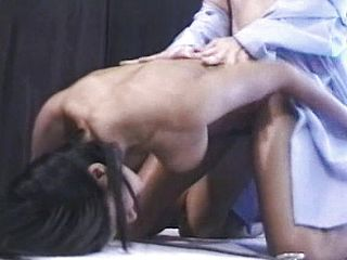 Sumptuous Indian stunner gets her powerful thicket tongued and then drilled