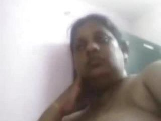 Mature aunty showcasing herself